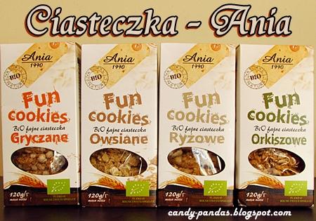Ciasteczka gryczane/owsiane/orkiszowe/ryżowe Fun Cookies BIO - ANIA
