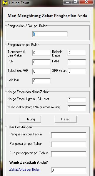Free Download Software Penghitung Zakat