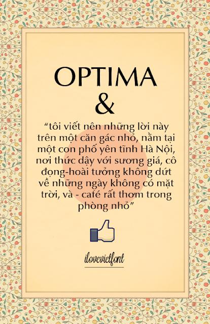 [Sans-serif] VNF Optima Regular Việt hóa