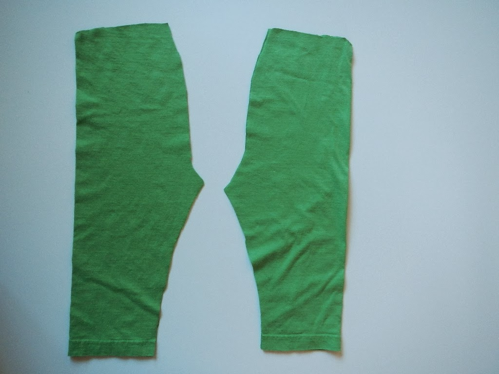DIY sewing a pair of baby toddler pants from a tshirt sweater