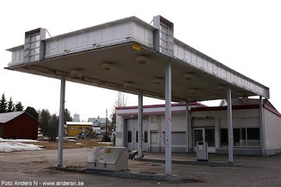 nedlagd bensinmack, mack, tapp, bensinstation