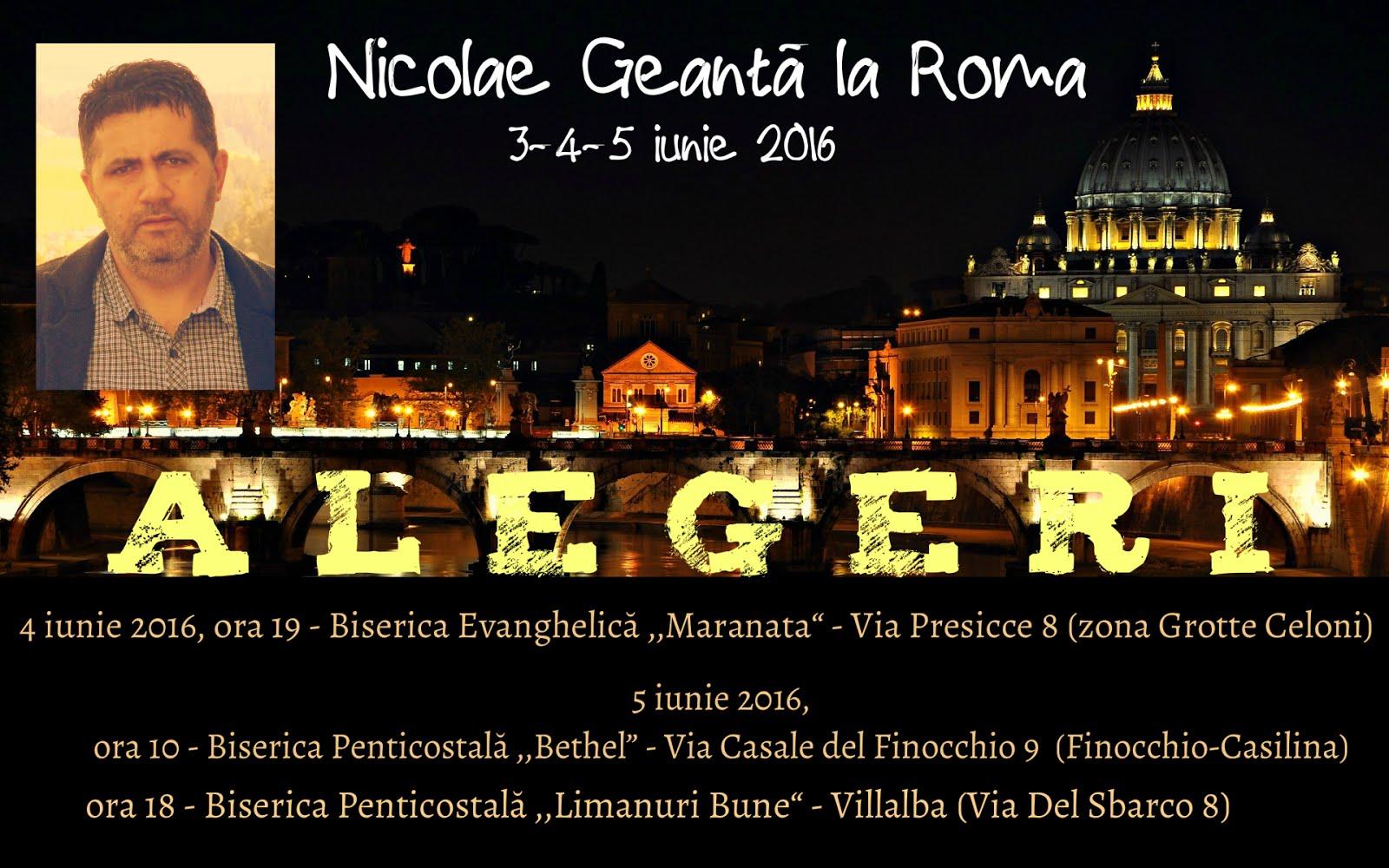 Nicolae Geantă la Roma