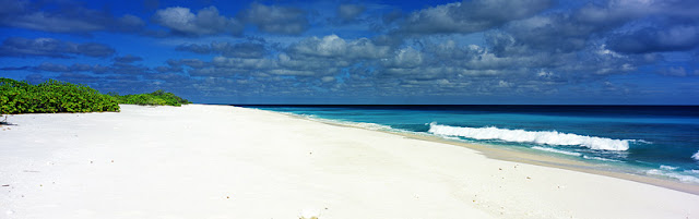 Remote Beach in the area know as Paris, Kiritimati - Kiribati