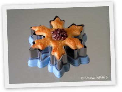 Ciastka orzechowa fantazja w kształcie płatków śniegu - konkurs dla fanów