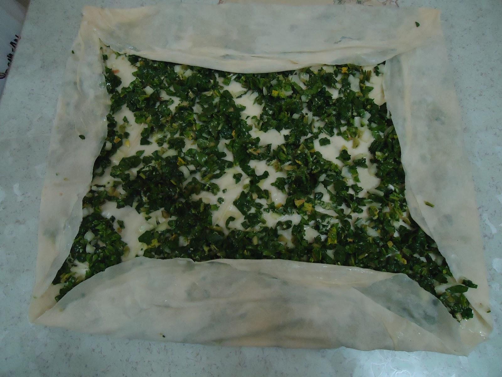 Ispanaklı rulo börek tarifi(resimli anlatım)