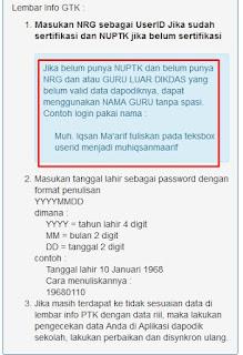 Cara Cek Info GTK Tanpa NUPTK/NRG