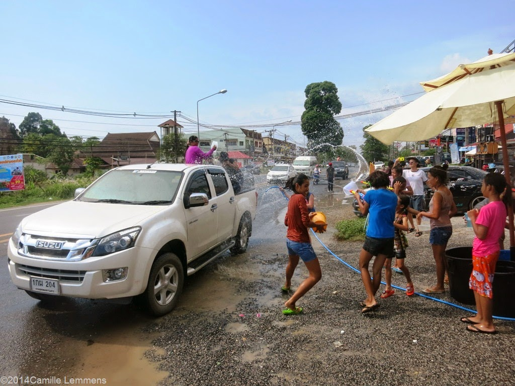 Songkran 2014, Khao Lak water fight