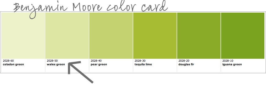 Colorways while we are on green for Benjamin moore light green