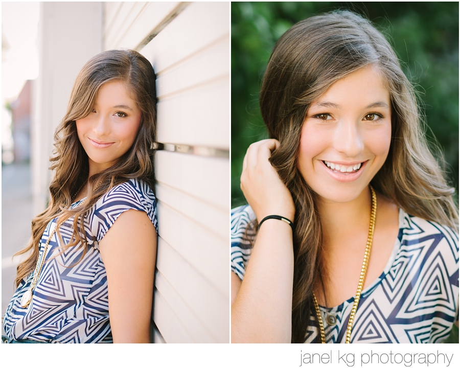 Downtown senior portraits with Janel KG Photography