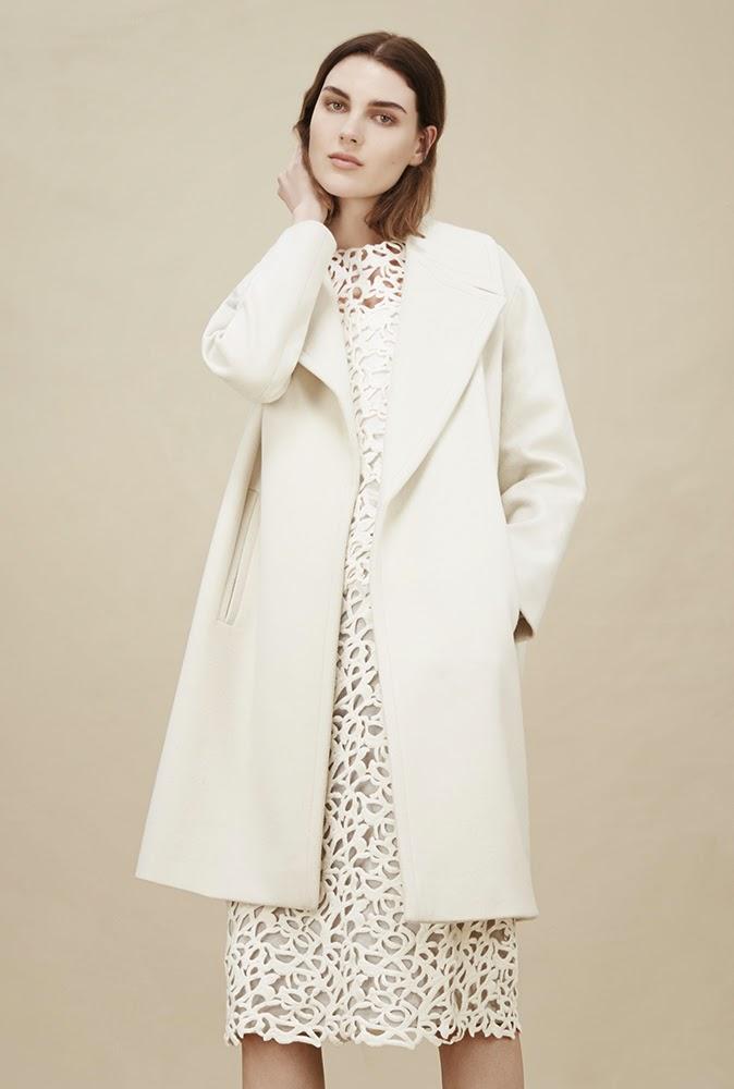 Hobbs cream Joanne Coat, Lauren Top, Lauren Skirt