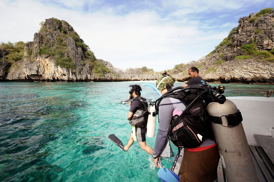 scuba diving, koh ha, koh bida, PADI open water course