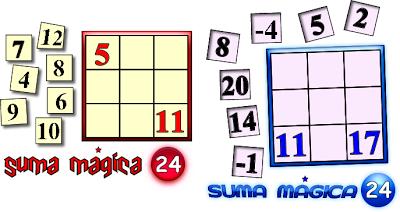 Cuadrados Mágicos, cuadrados mágicos con solución, cuadrados mágicos para niños, cuadrados mágicos para estudiantes
