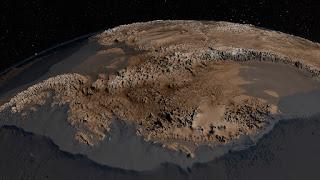 Новая карта Антарктиды без ледяного покрова
