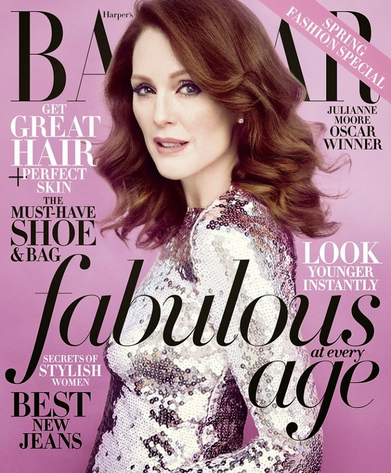 Actress, Children's author @ Julianne Moore by Camilla Akrans for Harper's Bazaar US, April 2015