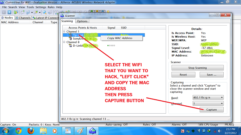 airhack windows wireless scanner and key finder  hit