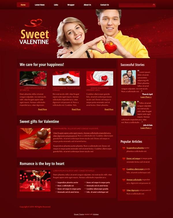 Sweet Valentine - Free Drupal Theme