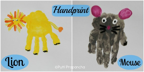 handprint lion and mouse