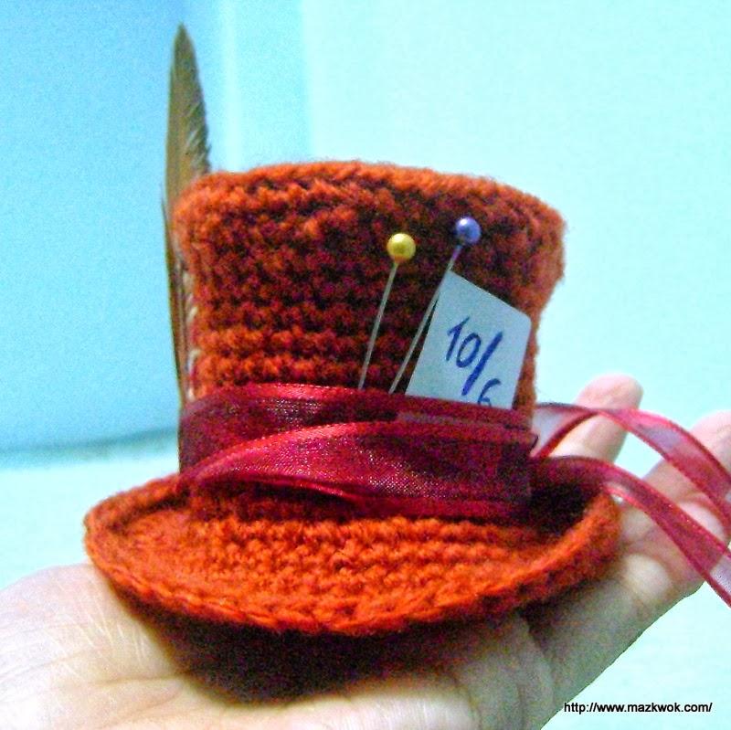 Amigurumi Top Hat Pattern : Mini Mad Hatters hat