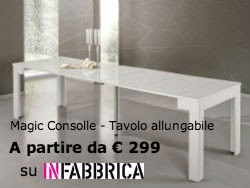Magic Consolle Tavolo Allungabile