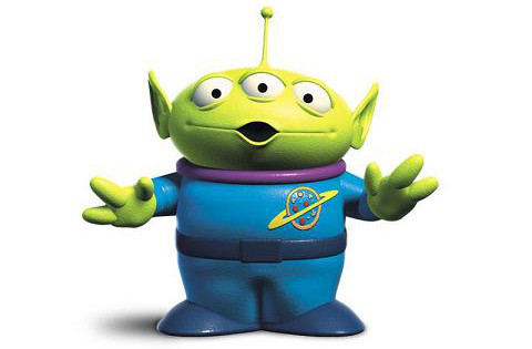 Alien toy from Toy Story 3