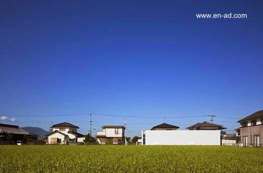 Casa minimalista japonesa prisma rectangular