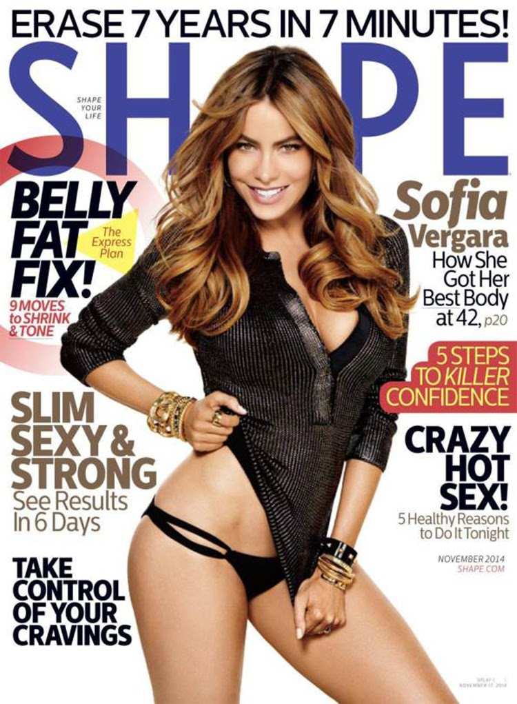 Sofia Vergara Poses In Bikini Bottoms On The Cover Of Shape Magazine November 2014