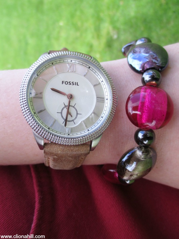 Fossil watch and bead bracelet