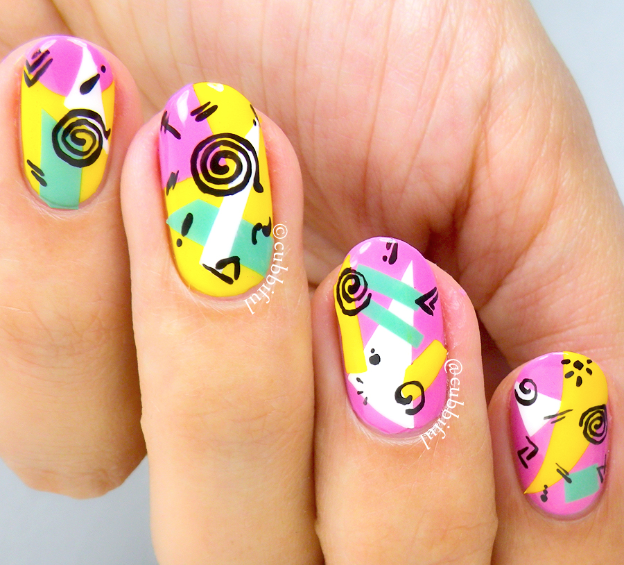 Cubbiful: 90s Saved By The Bell Nail Art
