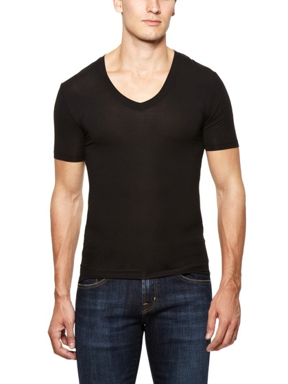 black v-t-shirt men