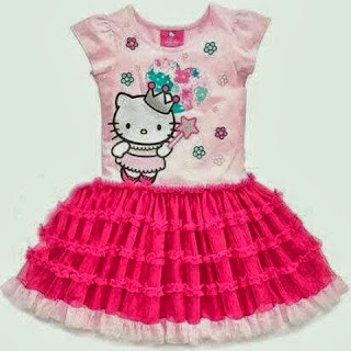 Tutu dress hello kitty murah tapi cantik