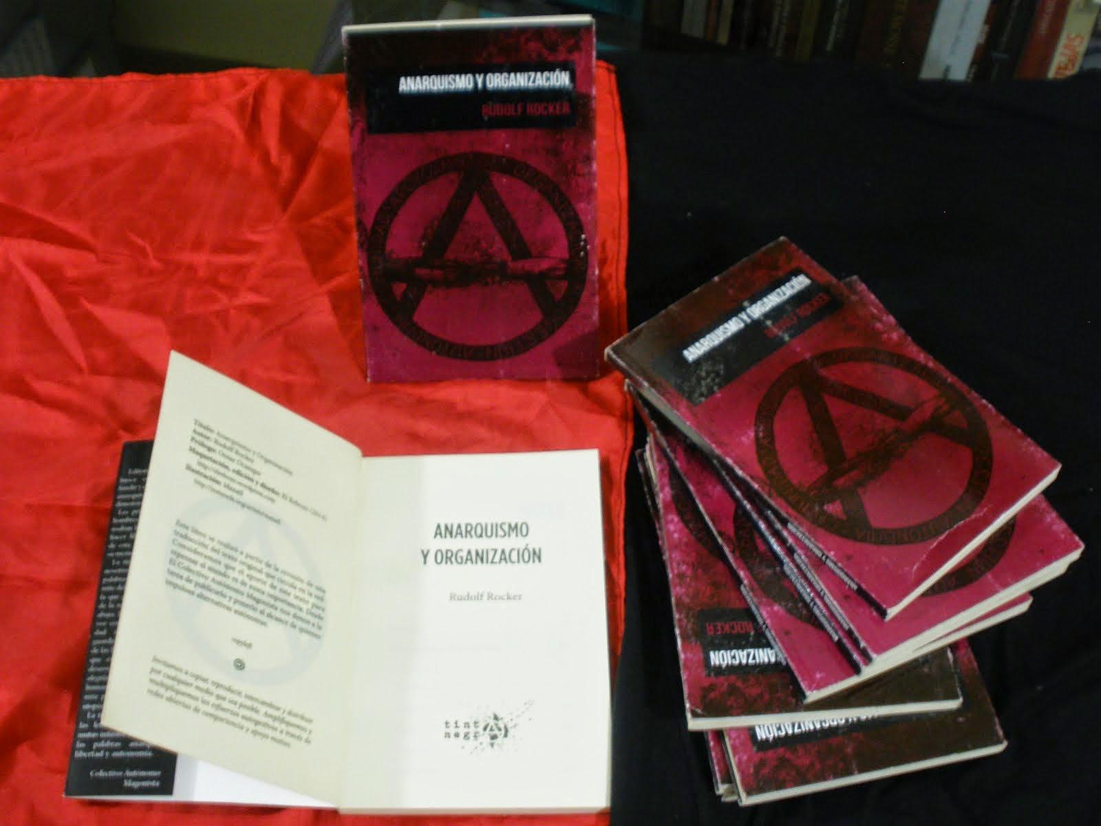 """Venta del Libro: """"Anarquismo y organización"""" Rudolf Rocker, Editorial Tinta Negra"""