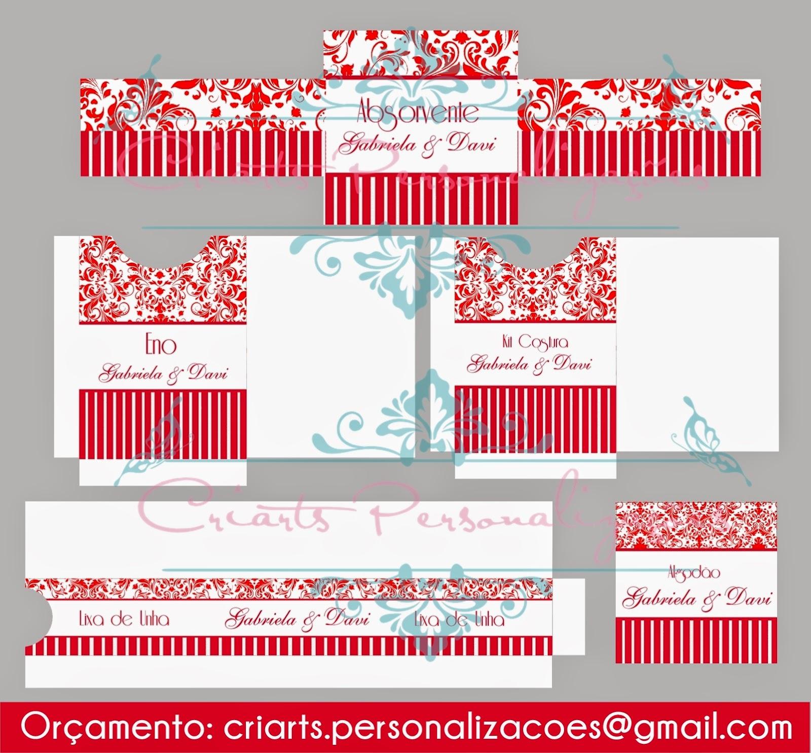 Kit De Banheiro Vermelho E Branco : Criarts personaliza?es kit banheiro vermelho e branco