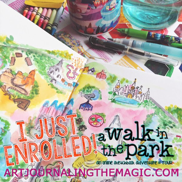 http://journalingthemagic.com/collections/frontpage/products/a-walk-in-the-park-online-sketchbook-adventure-tour