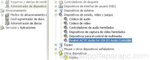 comprobar realtek audio for via en equipo