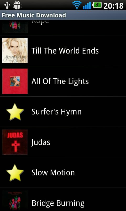 free music downloads for android system