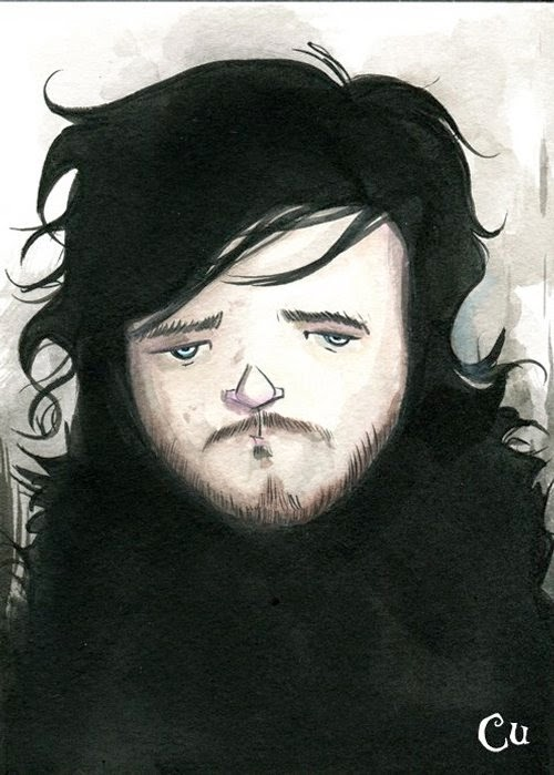 09-Game-of-Thrones-Jon-Snow-Chris-Uminga-Game-of-Thrones-Watercolours-www-designstack-co