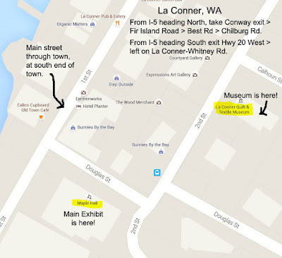 Map and directions to La Conner Quilt Festival