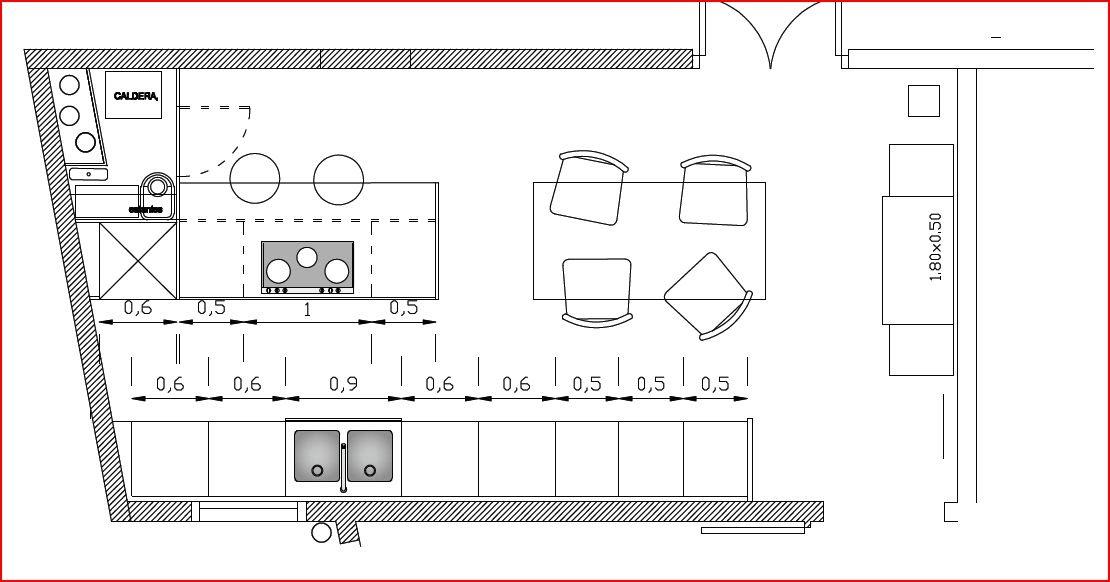 Carpinteria muebles a medida mobiliario de cocina en dm for Medidas de muebles en planta
