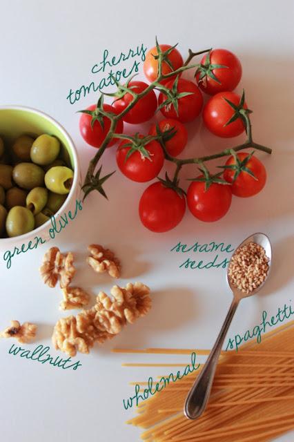 pasta olive pomodorini al forno