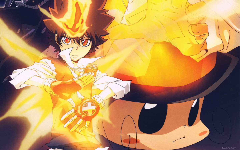 Wallpaper Tsuna Sawada (Hitman Reborn)