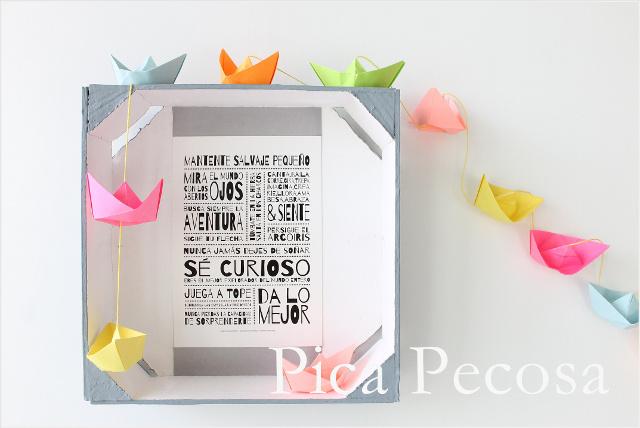 Haz un marco DIY con una caja de fresas reciclada y chalk paint ...