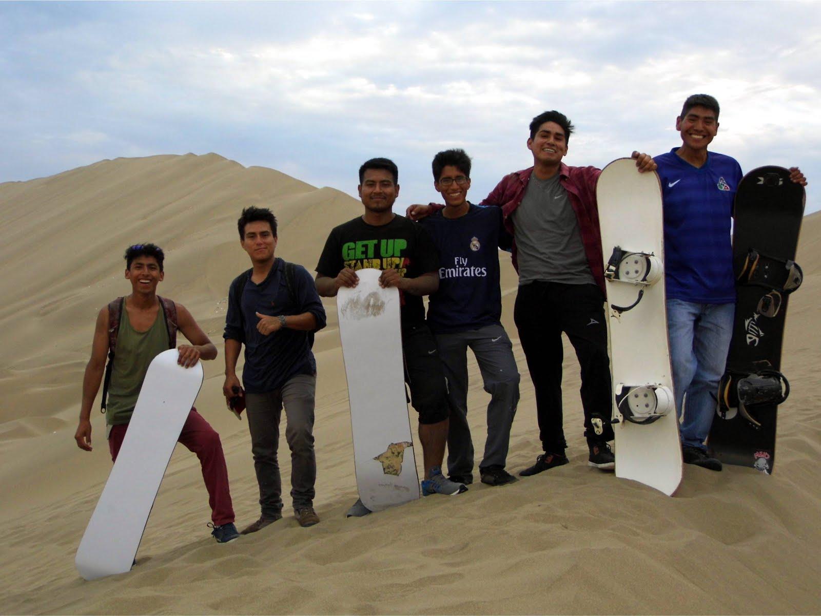 Sandboarding en Manchán