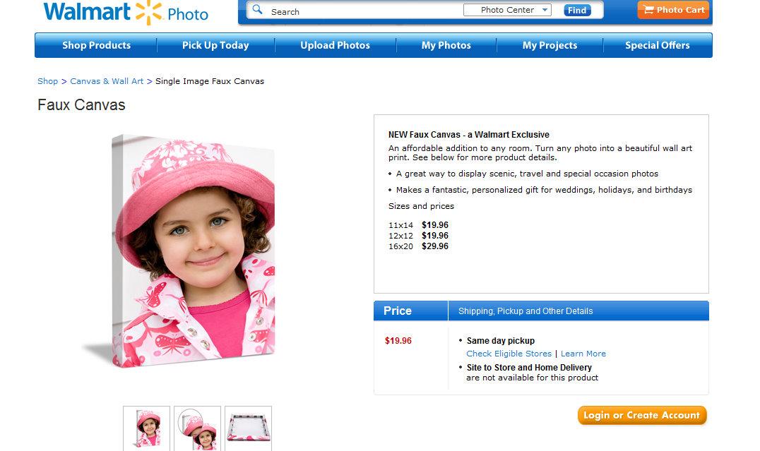 Walmart photo canvas coupon codes