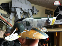 GeekSummit Class II BobaFett Slave Repaint Custom Vintage Trilogy Star Ship Han Solo in Carbonite