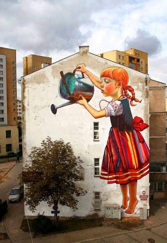 Grafiteiros deixam as ruas com mais vida