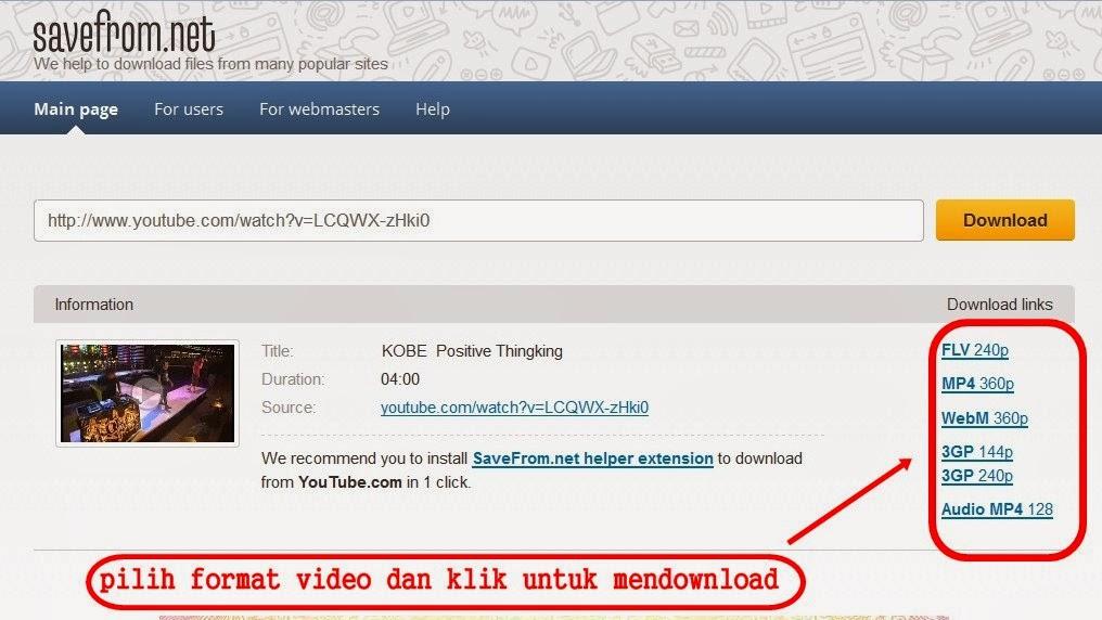 screenshots savefrom.net