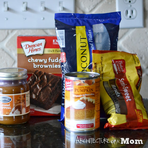 Secret Ingredient Samoa Brownies Ingredients