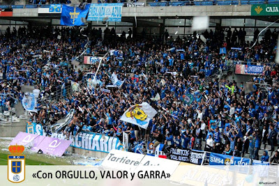 Symmachairii animando al Real Oviedo.