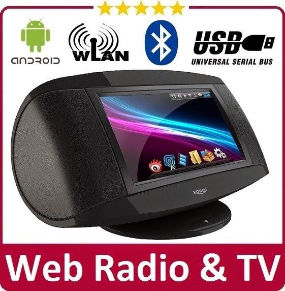 Интернет-радио и медиаплеер XORO HMT 380 с приложением Google Play Market и просмотром видео с различных сервисов интернета