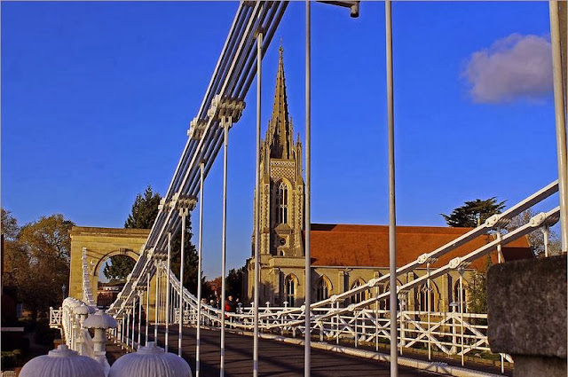 All Saints Church and suspension bridge Marlow